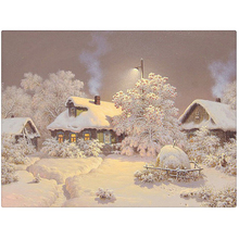 New Arrival 5D Square Diamond Painting Snow house Cross Stitch Kit DIY Set Embroidery Rhinestone Home Decor Needlework AZ007 ZX