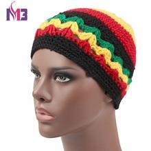 2017 Winter Women Men Knitted Rasta Hat Warm Handmade Crochet Hat Jamaica Style Beanie Caps Bob Marley Rasta Reggae Hat недорго, оригинальная цена