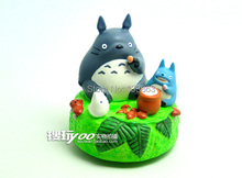 Music box of Japanese Cartoon Ha yao Animation Figure My Neighbor Totoro figure toys , children dolls,9cm high, toys for kids