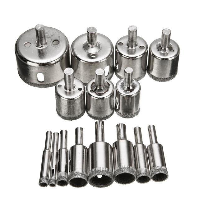 15Pcs//Set Diamond Hole Saw Drill Bits Glass Ceramic Tile Saw Cutting Tool 6mm