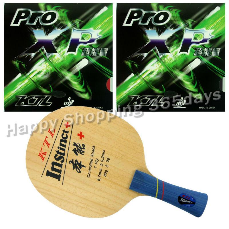 Pro Table Tennis PingPong Combo Racket KTL Instinct+ Shakehand Blade with 2x Pro XP Rubbers Long Shakehand FL hrt 2091 blade with ktl pro xp and palio cj8000 biotech rubbers for a table tennis combo racket fl