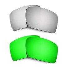 HKUCO для Eyepatch 2 поляризованные Сменные линзы Серебряный и Изумрудный зеленый 2 пары повышенная четкость