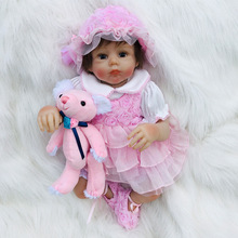 цены 50cm NPK 20'' Soft Silicone Reborn Doll Cuty Baby Girl Sweetheart Kids' Birthday Xmas Gift Children Toys Bebe Reborn Happy Girl