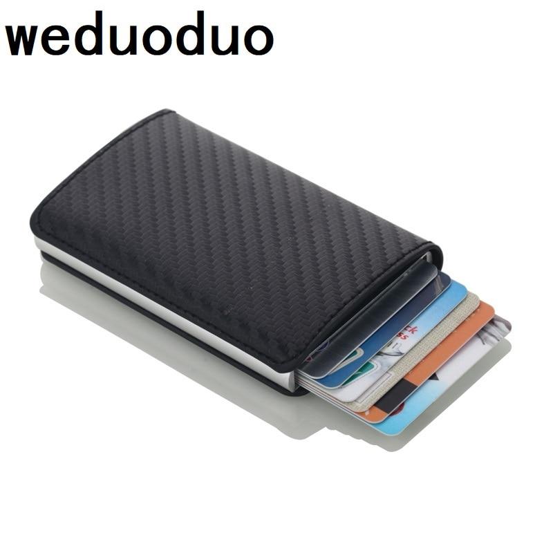 new automatic pop up credit card holder men aluminum alloy