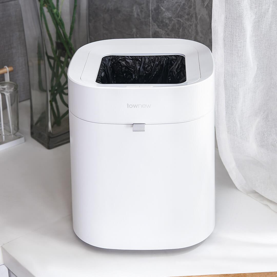 Xiaomi Townew 284x284x342mm T Air poubelle intelligente peut déchets poubelles automatique étanchéité muet Mintpass poubelle - 4