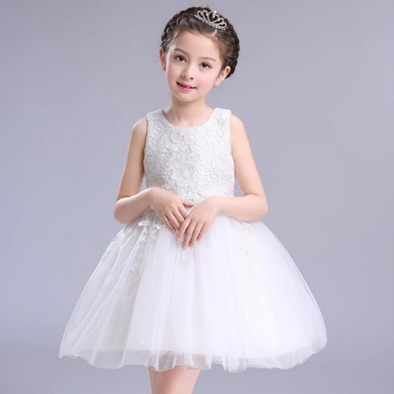 White First Communion Dresses For Girl Tulle Lace Infant Toddler Pageant Flower Girl Dress for Wedding and Birthday Party brandwen formal white dresses for girl tulle lace infant toddler pageant pearls girl dress for wedding and birthday vestidos
