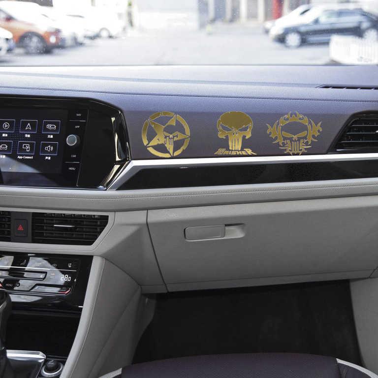 Punisher Kafatası Araba Sticker Pentagram nikel Çıkartmaları Motosiklet Laptop kamyon pencere tampon çıkartmaları Dekorasyon Aksesuarları