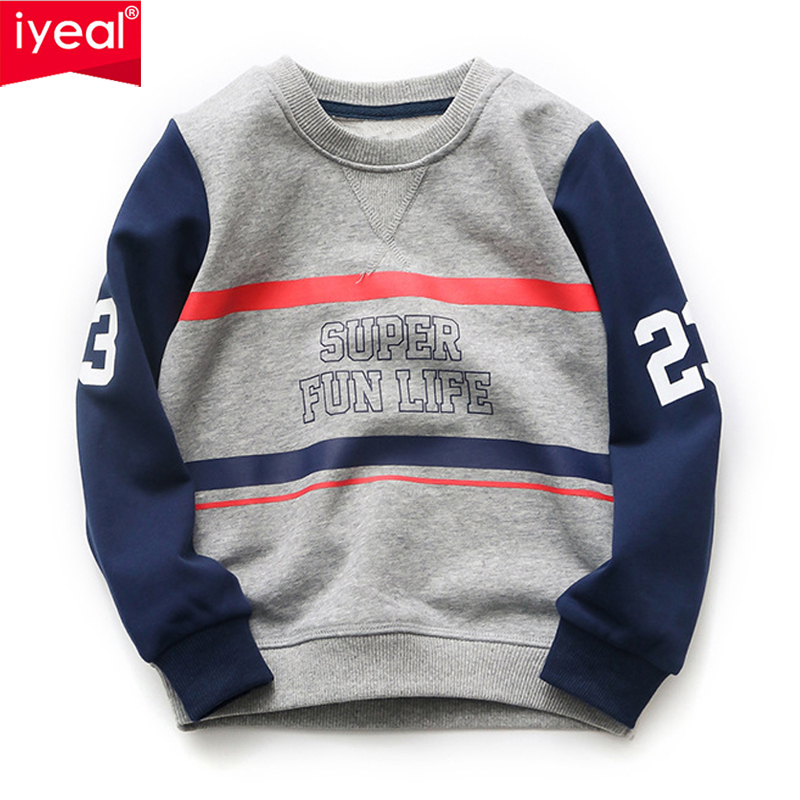 IYEAL Kids Hoodies Big Boys Cotton Long Sleeve Letter Print Coat Sport Jacket Sweatshirts Pullover Outwear for 4-10 Years rabbit print pullover