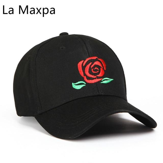 7b5772a44ff6c Nouveau Rouge Rose Casquettes de Baseball Loisirs Coton Femmes Snapback  Chapeaux Solide Unisexe Os Hommes Snapback