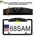 Canadá EUA México Americano Quadro de Placa de Vídeo Sensor de Estacionamento Backup Inverte a Câmera Reaview Carro com Leds de Visão Noturna
