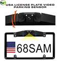 Canada USA Mexico American License Plate Frame Video Parking Sensor Car Reaview Backup Reversing Camera with Leds Night Vision