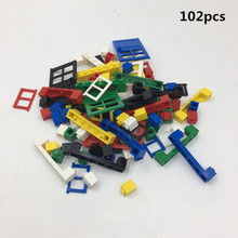 102pcs/lot Building Block Six sets of Doors and Windows Compatible with Legoe Educational Toy Multicolor toys for Children(China)