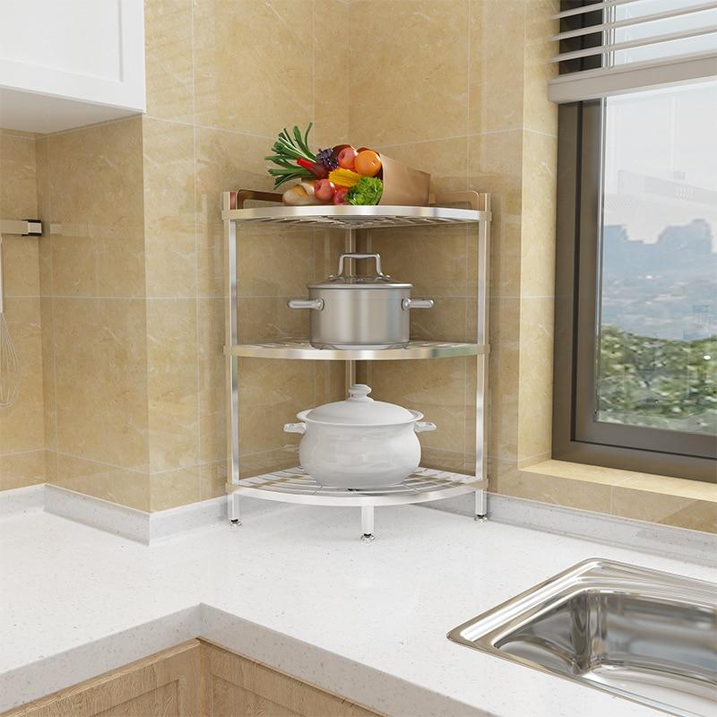 Multi Layer Triangular Pot Rack,Detachable Kitchen Corner