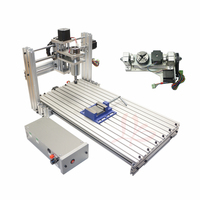 Ball Screw Mini CNC 5 Axis CNC Router DIY 6020 Wood PCB PVC Engraving Milling Machine With Free Cutters ER11 Collet USB Port