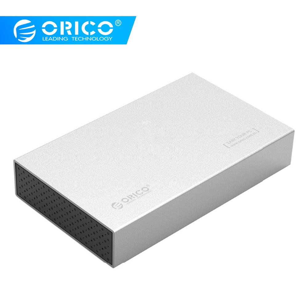 ORICO HDD Enclosure 3.5 Inch SATA To USB3.0 Hdd Adapter For Samsung Hard Disk Drive Box 1TB 2TB 2.5 External Storage HDD Case