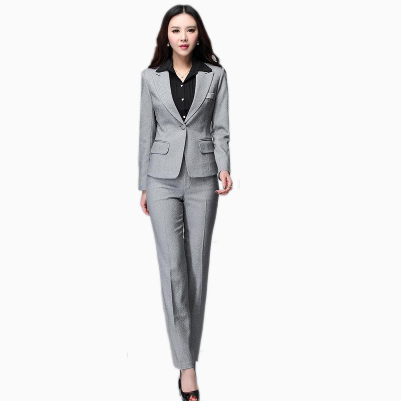 Aliexpress.com : Buy Women Business Suits Blazer with Pants New ...