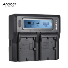 Andoer LP-E6 LP-E6N duplo canal câmera digital carregador de bateria com lcd para canon eos 5dii 5 diii 5ds 5dsr 6d 7dii 60d 80d 70d
