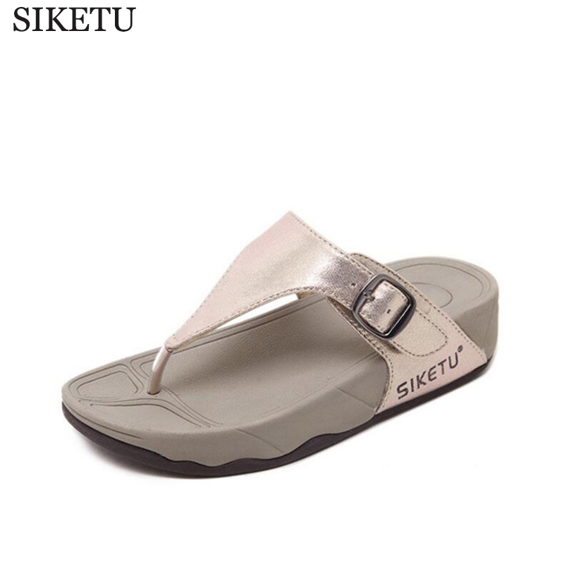 2017 Women Sandals Shoes Sapato Feminino Wedge Flip Flops Fashion Beach Women Slipper Shoes Sandalias Mujer k172 new women sandals sapato feminino handmade genuine leather flat shoes wedge flip flops beach women slipper shoes sandalias mujer
