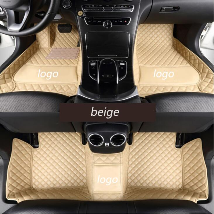 car floor mats for W211 W212 W204 W205 W176 W169 Mercedes Benz A B C E class W245 W246 3D all weather car styling rugs carpet