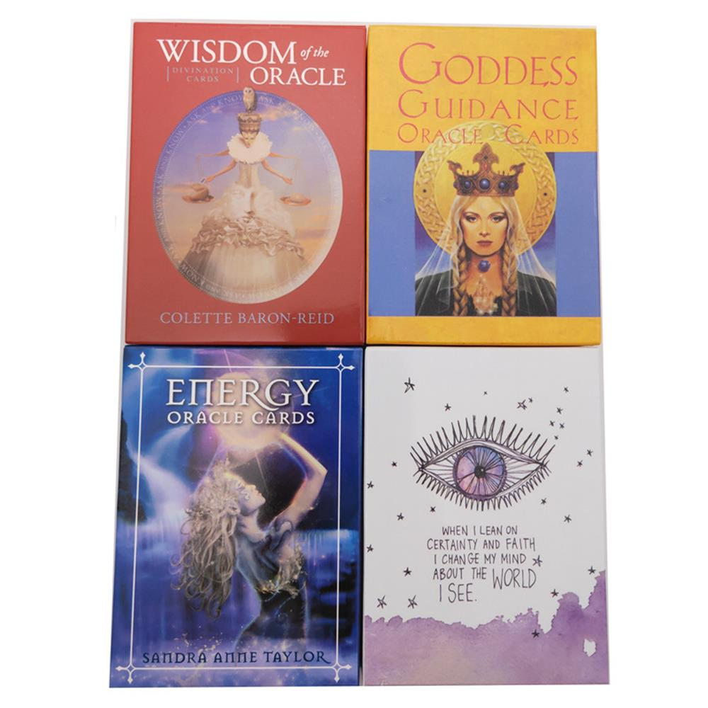 6 Styles English Oracle Cards Deck , Tarot Cards Guidance Divination Fate Board Game Card Game For Women(China)