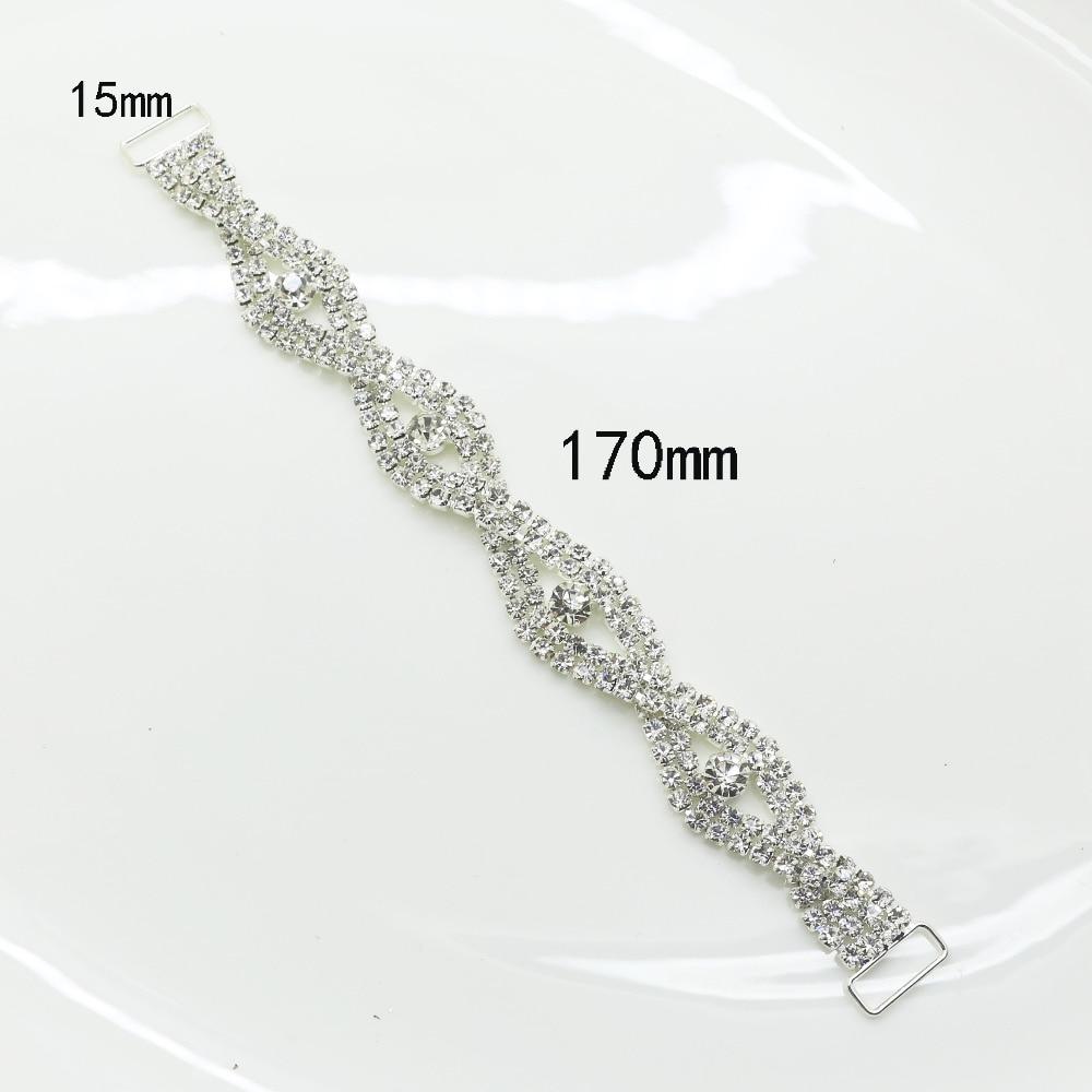Nowość 170-milimetrowe złącza bikini z kryształem górskim klamra bibeloty odzież dekoracja klamra / mosiądz Akcesoria do torebek buty klamra fabryka