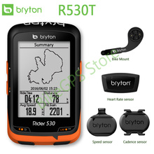 Bryton Rider R530T/ GPS Bicycle Bike Cycling Computer & Extension Mount with ANT+ Speed Cadence Dual Sensor