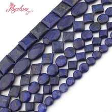 8,10,12,20mm redondo, moeda praça rondelle azul lapis lazuli contas de pedra para diy colar pulseira jóias fazendo 15