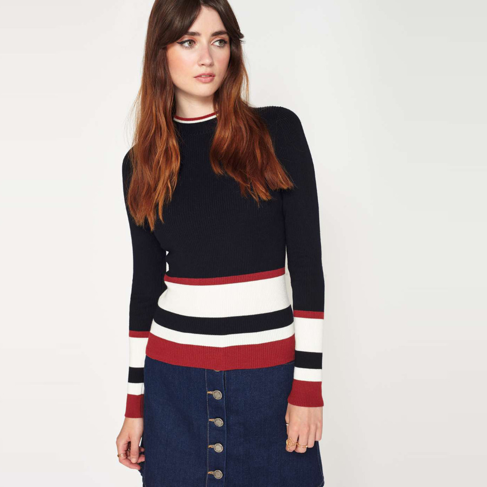 Popular Red Striped Sweater-Buy Cheap Red Striped Sweater lots ...