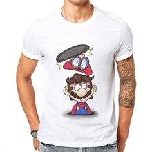 2019 New Arrivals Mario T Shirt Men Cartoon Game Printed Man T-shirt Short Sleeve Casual Basic Tops Funny Cool Mens Tee Shirts