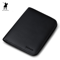 WILLIAMPOLO 2016 Genuine Leather Designer Wallets Famous Brand Cute Wallet Slim Wallet Small Man Purse POLO149