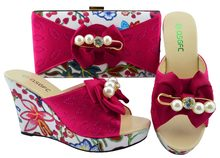 329b38566aef Fashion shoe and bag set matching slipper shoes clutches size 38-43 new  fushia hot pink color shoes and bag set SB8195-6