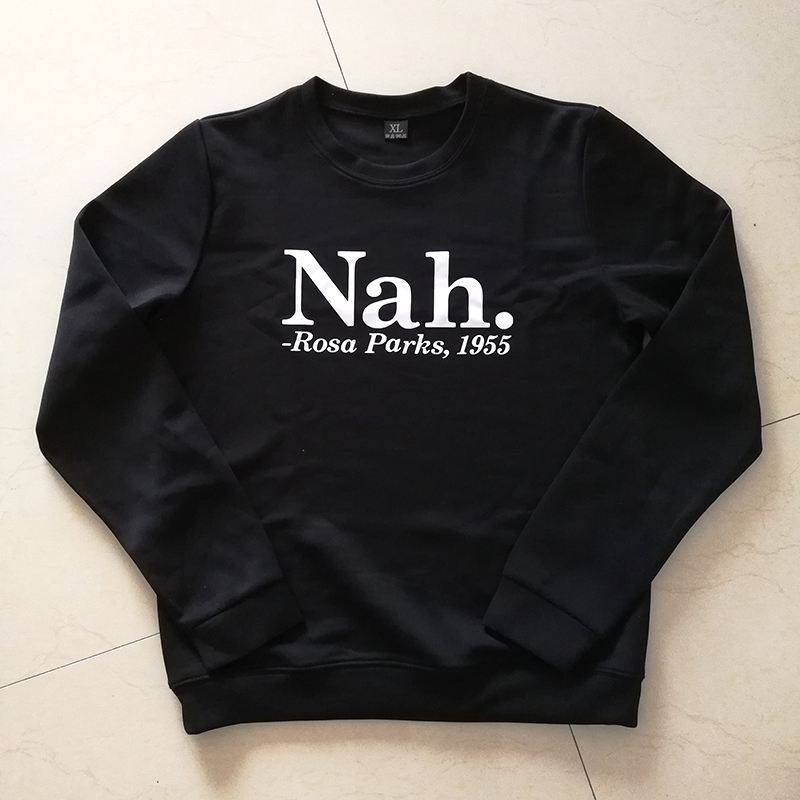 1645bda3 Rosa Parks 1955 Letter Print African American Civil Rights Movement  Pullover Tracksuits Hoodie from Reliable women sweatshirt suppliers on  sofievalkiers ...