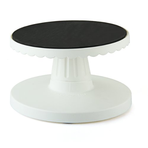 GSFY!Rotating Icing Revolving Cake Tilting Turntable Decorating Stand Platform