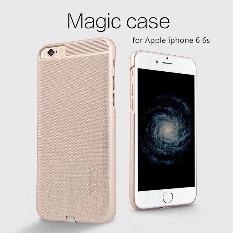 imágenes para Para el iphone 6 6 s/6 plus 6 s plus Cargador Inalámbrico QI Receptor Caso de La Cubierta Original de Nillkin Magia potencia del Transmisor de Carga