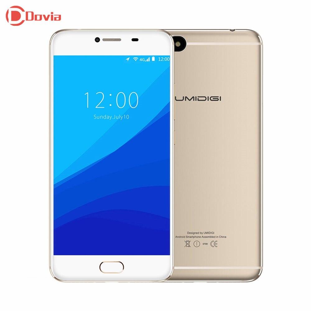 Umidigi c Note 4 г смартфон 5.5 дюйма 1920*1080 mtk6737t 4 ядра 3 ГБ + 32 ГБ 13MP 5mp камера 3800 мАч отпечатков пальцев OTG Мобильный телефон