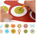 ABWE New Spirograph Design Early Learning Creative Educational Toy Drawing Ruler