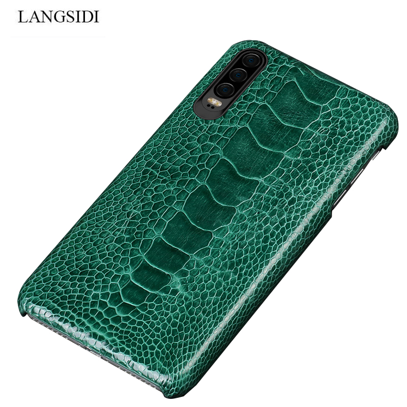 Natural Ostrich Leather For Huawei p30 pro high end leather phone case for Huawei p30 Lite p20 pro p20 fall protection sleeve