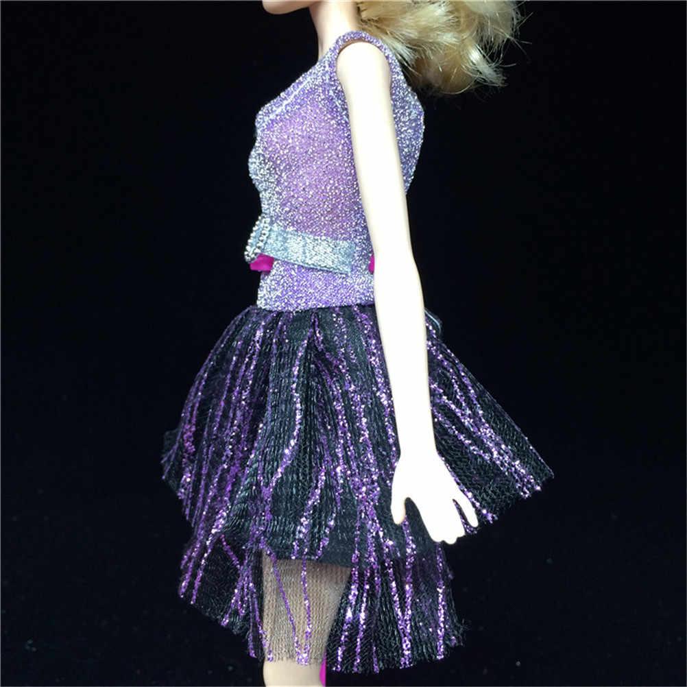 Een Set Nieuwe Party Doll Dress Kleding Jurk Voor Barbie Beste Baby Cadeau Pop Kleding Handgemaakte