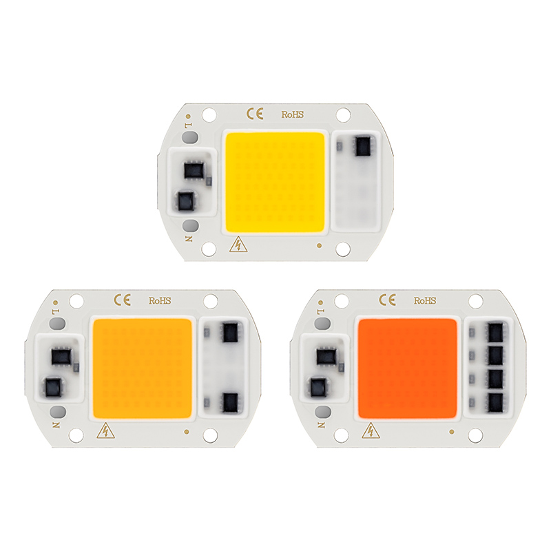5PCS LED COB Chip Grow Lamp Full Spectrum 20W 30W 50W Phyto AC 220V  Warm Cold White Fito Lamp For Green House DIY Floodlight