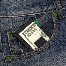Brand Men Metal Credit Card ID Holder Fashion Mini Money Clip RFID Case With Anti-thief Business Occasion Organizer