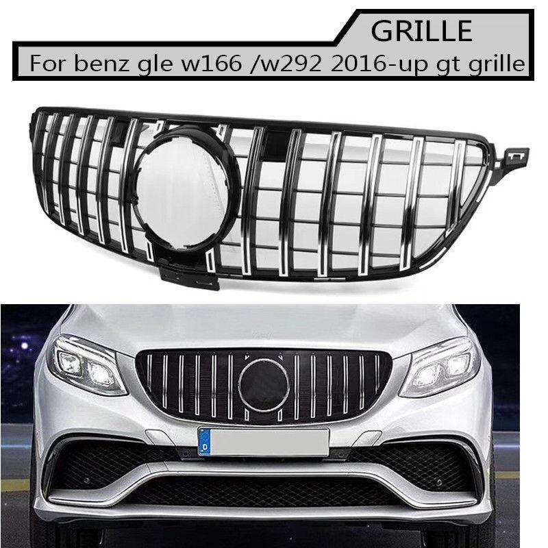Gt gtr Grill Grille Emblema de prata Do Amortecedor Dianteiro Para O benz w166 gle w293 gle 2016