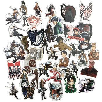 Pegatinas de Ataque a los Titanes (42 uds por lote) 3cm/pegatina Shingeki No Kyojin