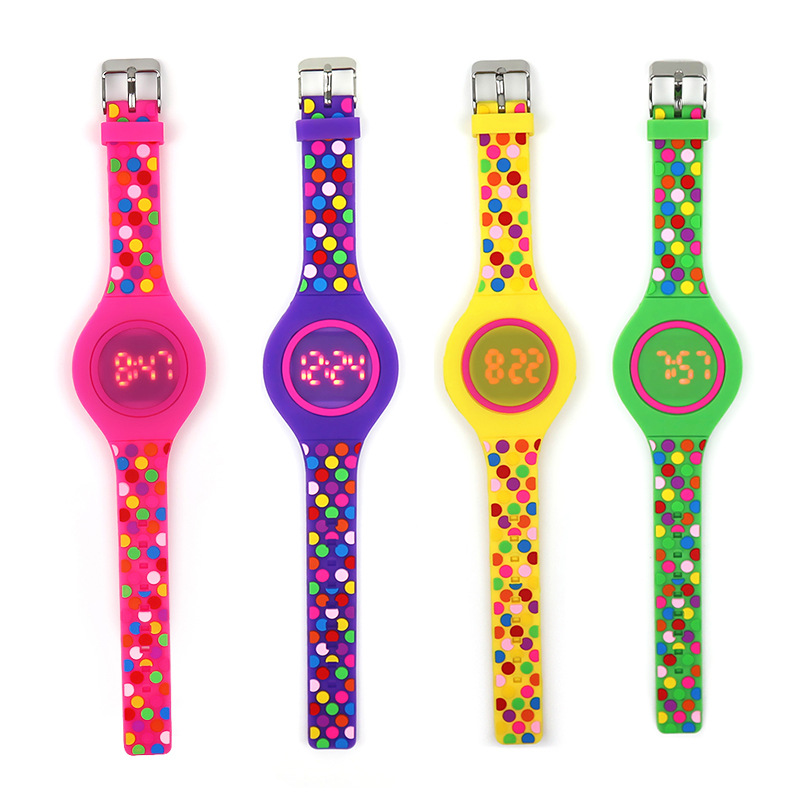 JOYROX Jelly Color LED Child Watch Kids Girl Digital Watches New Touch Screen Rubber Children Watch For Boy Girl Student
