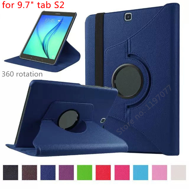 nice quality 360 rotation smart case for samsung galaxy tab s2 9.7 case cover wake sleep stable stand support pu leather skin