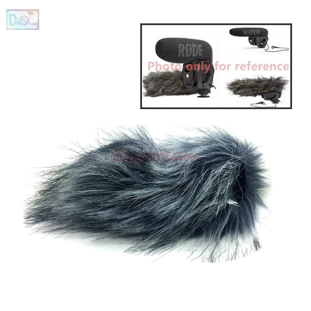 Professional Outdoor Dusty Mic Furry Cover Windscreen Windshield Rode Microphone Videomic Pro Rycote Muff For Deadcat Wind Shield In Accessories From