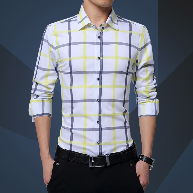 801411c030d Men Plaid Shirt Long Sleeve Summer Shirt Brand Mens Check Shirts Cotton  Mens Casual Shirts 2018 Men Plus Size slim Fit Camisa-in Casual Shirts from  Men s ...