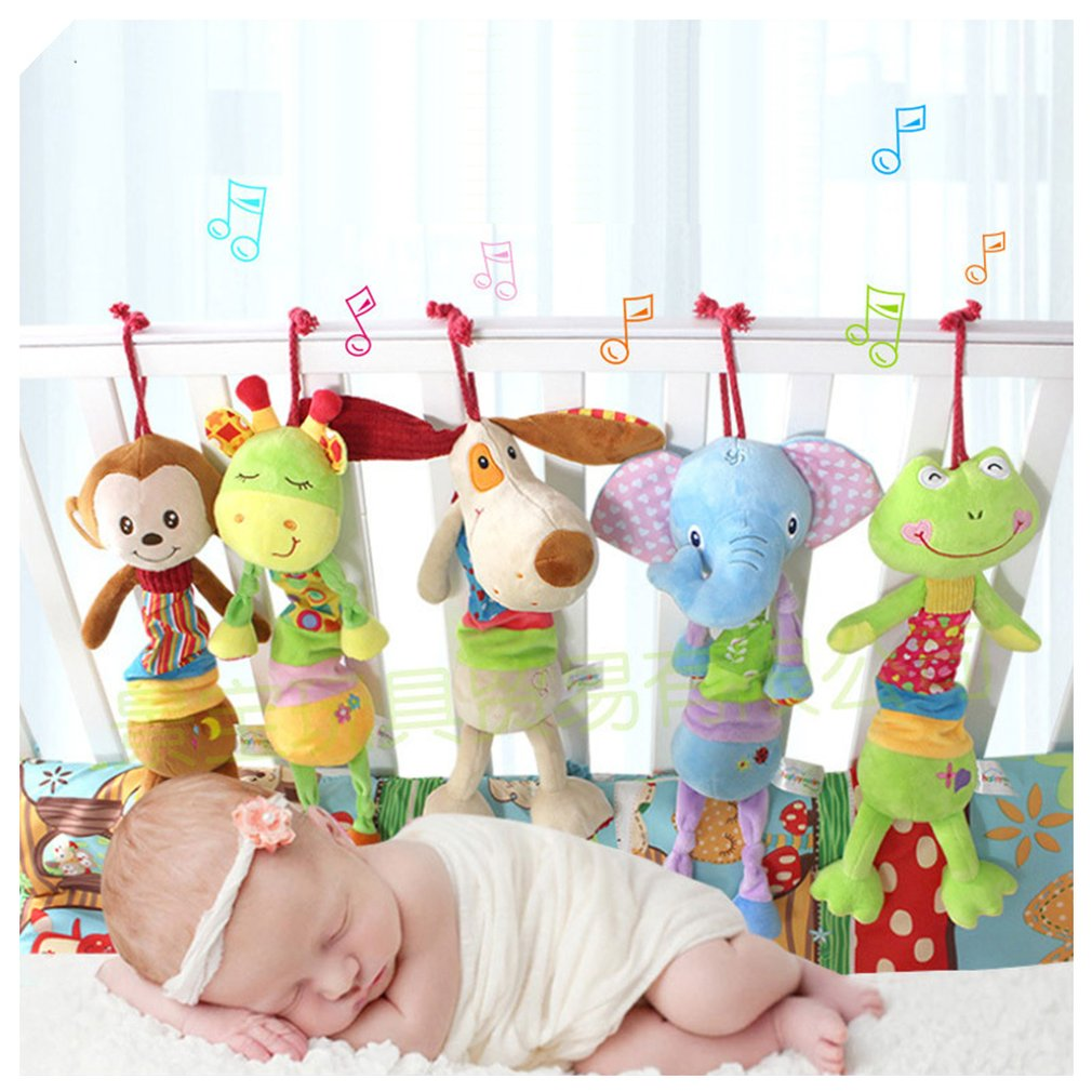 10 Styles Baby Toys 0-12 Months Cartoon Infant Toys Mobile Baby Plush Toy Bed Wind Chimes Rattles Bell Crib Bed Hanging Toys