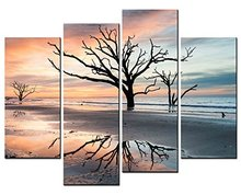 4 Panels Framed beautiful sea view Painting Canvas Wall Art Picture Home Decoration Living Room Print Modern