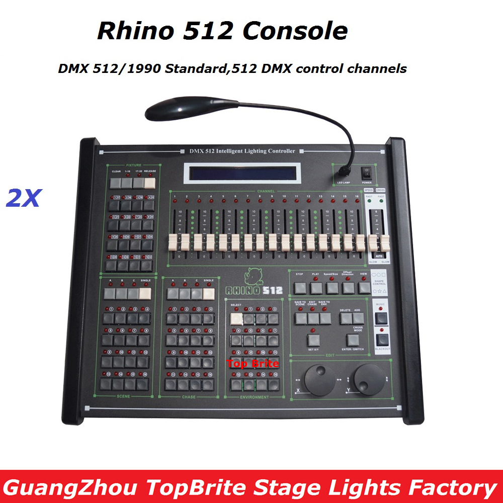 2XLot Free Shipping High Quality Rhino 512 DMX Controller Dj Disco Equipment Console For Stage Moving Head Led Par Laser Lights стоимость
