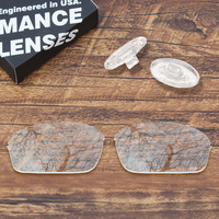 ToughAsNails Resist Seawater Corrosion Clear Mirrored Replacement Lens &Clear Nose Pads for Oakley Half Wire 2.0 Sunglasses